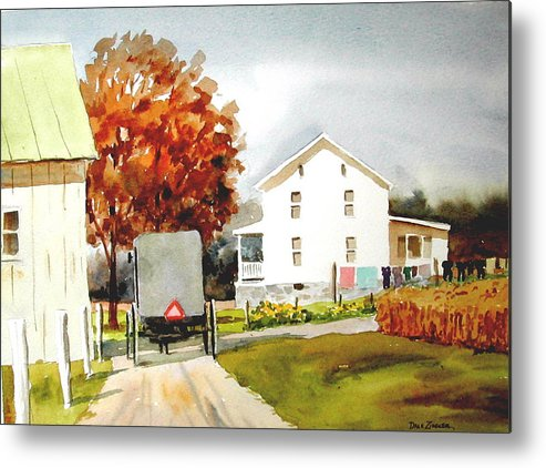Amish Metal Print featuring the painting The Homestead by Faye Ziegler