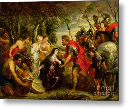 Dtr140303 Metal Print featuring the photograph The Meeting Of David And Abigail by Peter Paul Rubens
