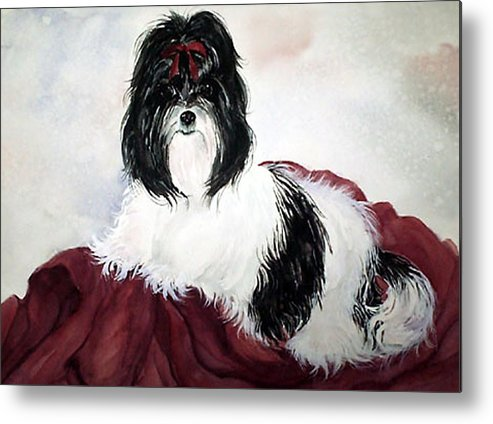Canine Metal Print featuring the painting The Princess by Gina Hall