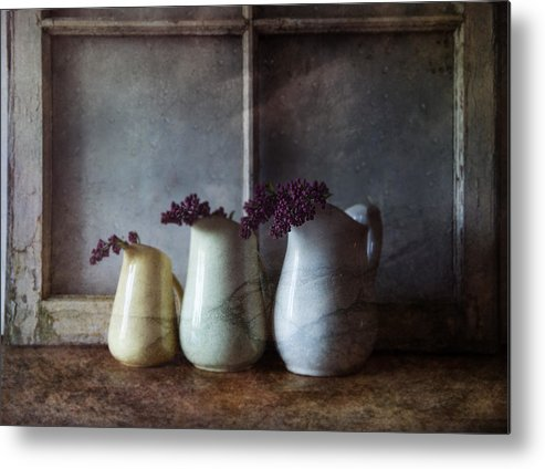 Three Pitchers Metal Print featuring the photograph Three Pitchers by Nichon Thorstrom
