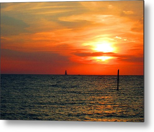 Beach Metal Print featuring the photograph Transcendence by Elyza Rodriguez