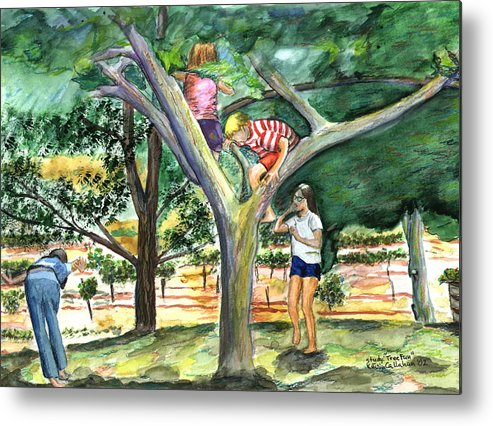 Kevin Callahan Metal Print featuring the painting Tree Fun Study by Kevin Callahan