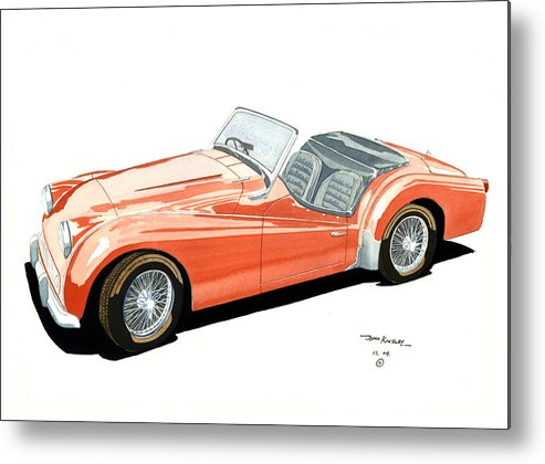 Transportation Metal Print featuring the painting Triumph Tr2 by John Kinsley
