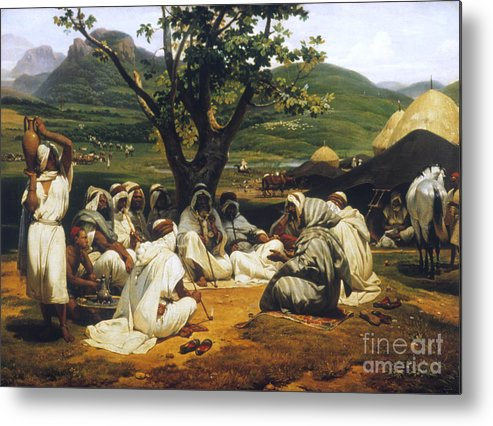 1833 Metal Print featuring the photograph Vernet: Arab Tale-teller by Granger