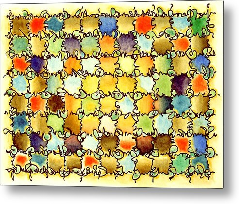 Abstract Metal Print featuring the painting Warm Light by Dave Martsolf