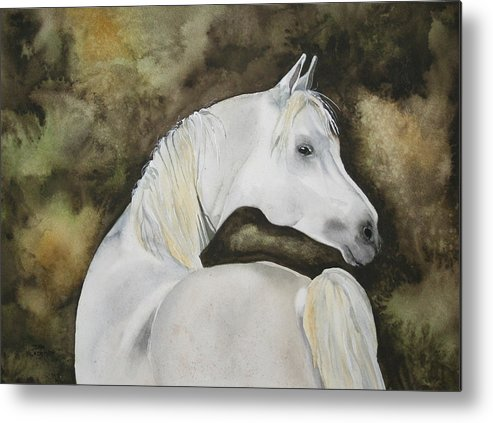 Horse Metal Print featuring the painting You Talking To Me by Jean Blackmer