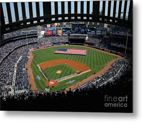 American League Baseball Metal Print featuring the photograph Toronto Blue Jays V New York Yankees by Elsa