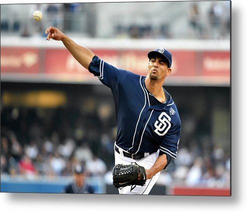 California Metal Print featuring the photograph Los Angeles Dodgers V San Diego Padres 7 by Denis Poroy