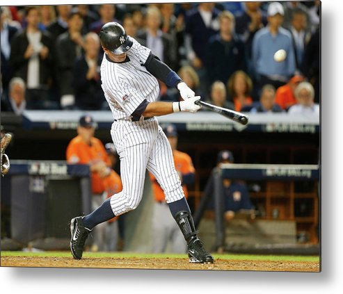 Playoffs Metal Print featuring the photograph Alex Rodriguez by Jim Mcisaac