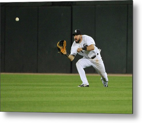 American League Baseball Metal Print featuring the photograph Chase Headley And Adam Eaton by David Banks