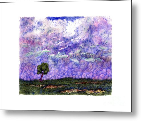 Clouds Metal Print featuring the painting Voices In The Sky by Karen Wheeler