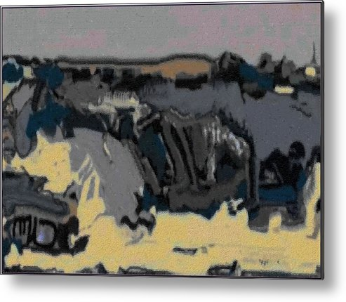 Landscape Metal Print featuring the painting Abstract Landscape Al 1 by Pemaro
