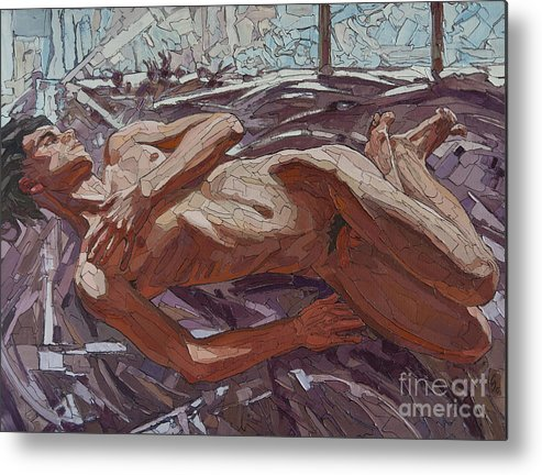 By The Window Metal Print featuring the painting By The Window by Sergey Sovkov