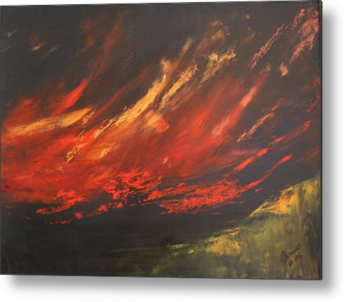 Clouds Metal Print featuring the painting Camberwell Skies by Jan Lowe