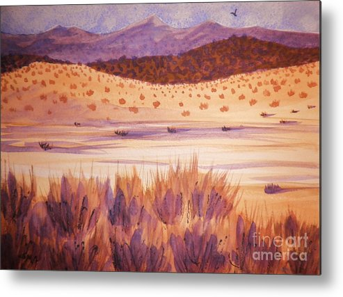 Landscape Metal Print featuring the painting Solitude by Suzanne McKay