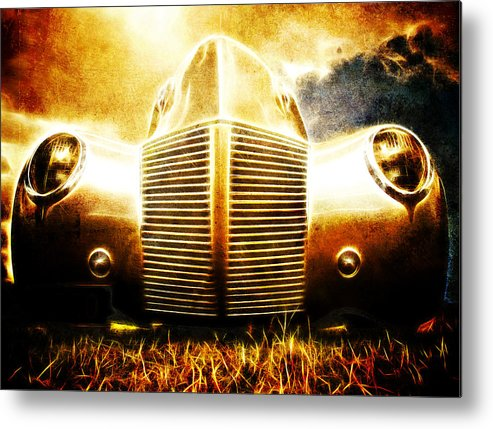Custom Ford Metal Print featuring the photograph 1939 Ford Roadster by Phil 'motography' Clark