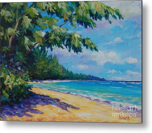 7mb Metal Print featuring the painting 7 Mile Beach by John Clark
