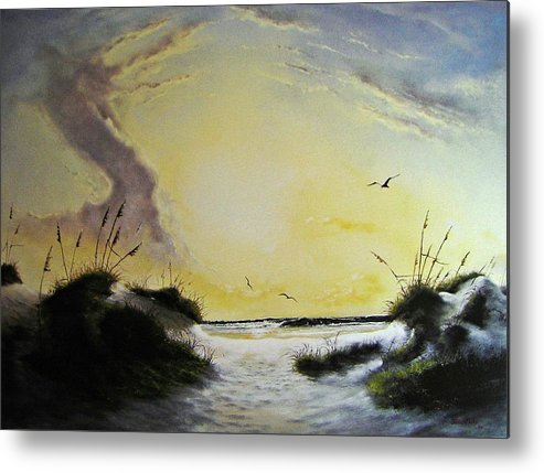 Beach Metal Print featuring the painting Gulf Shores by James Neeley