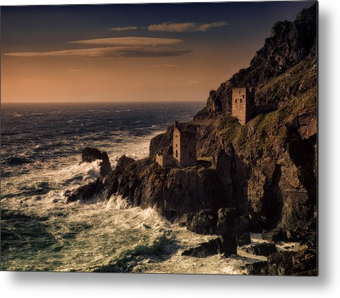 Botallack Metal Print featuring the photograph Botallack Tin Mine by Graham Moore