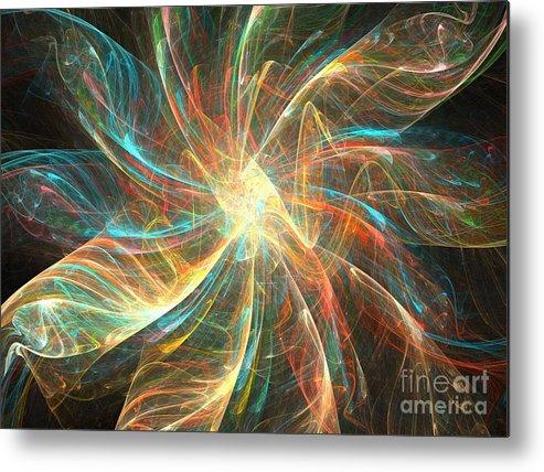 Apophysis Metal Print featuring the digital art Astral Flower by Kim Sy Ok