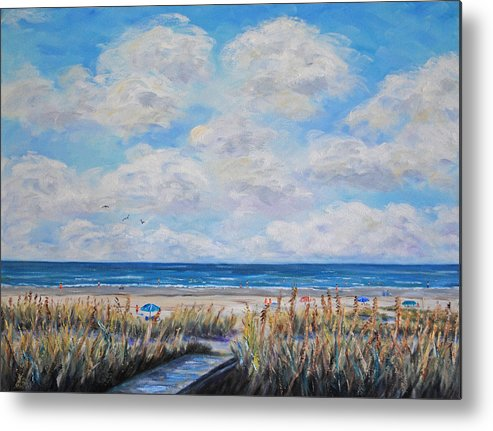 Beach Metal Print featuring the painting Beach Day by Stanton Allaben