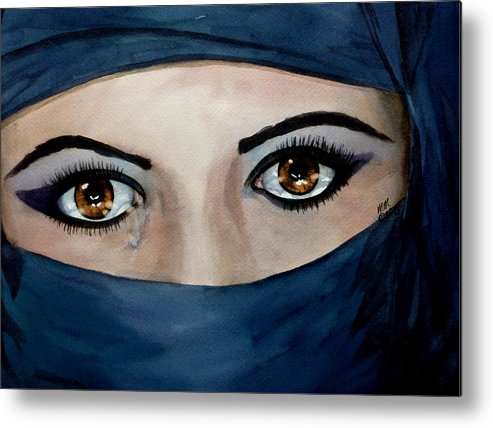 Jihad Metal Print featuring the painting Beyond The Veil by Michal Madison