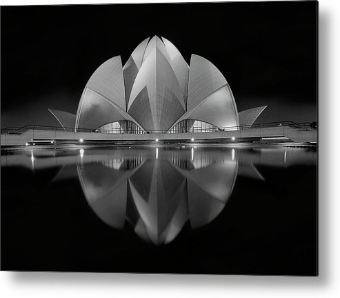 Architecture Metal Print featuring the photograph Black Contrast by Nimit Nigam