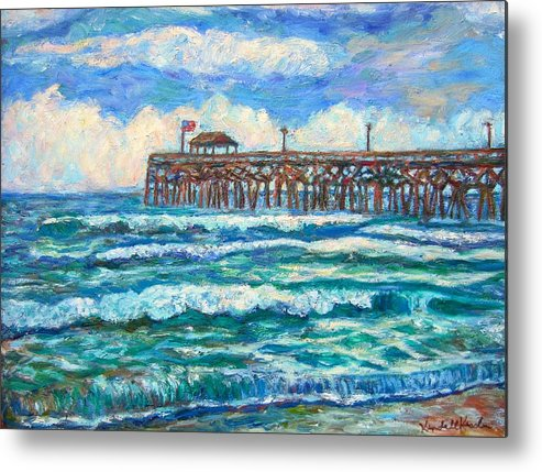 Shore Scenes Metal Print featuring the painting Breakers At Pawleys Island by Kendall Kessler
