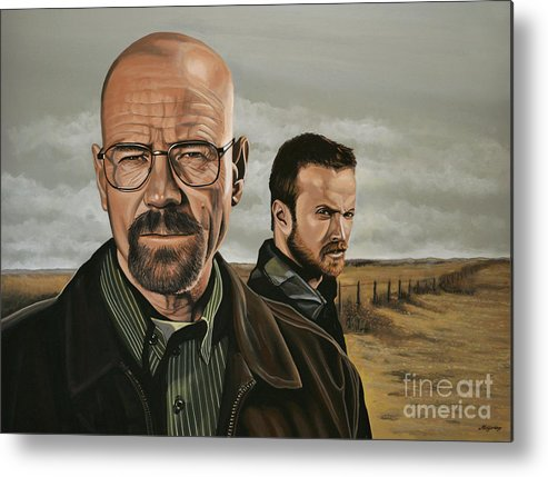 Breaking Bad Metal Print featuring the painting Breaking Bad by Paul Meijering