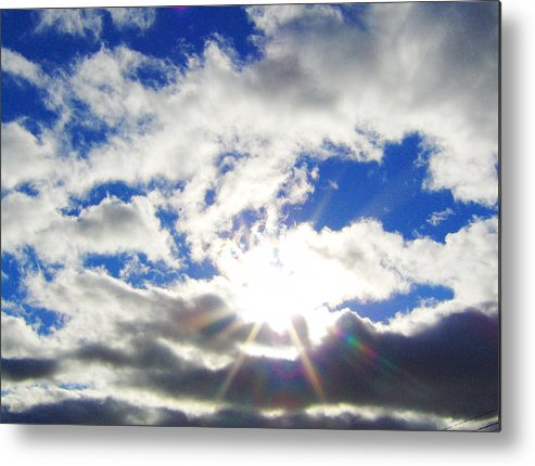 Sky Metal Print featuring the photograph Breaking Through by J Andrel