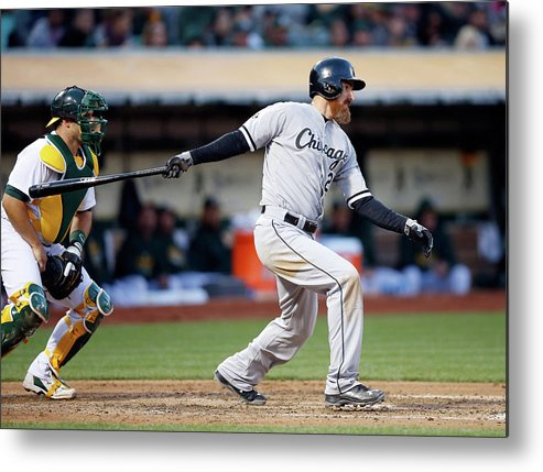 Adam Laroche Metal Print featuring the photograph Chicago White Sox V Oakland Athletics by Ezra Shaw