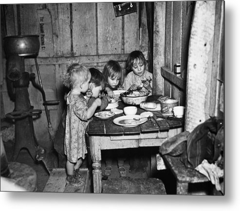 1936 Metal Print featuring the photograph Christmas Poor, 1936 by Granger