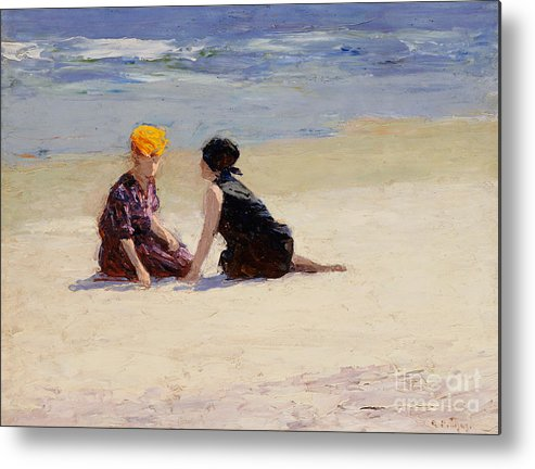 Couple Metal Print featuring the painting Confidences by Edward Henry Potthast