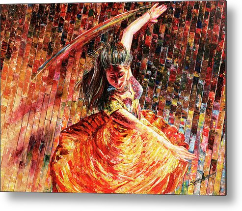 Dancer Metal Print featuring the painting Dance Of Colors by Sethu Madhavan
