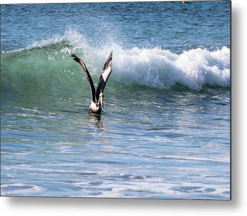 Ocean Metal Print featuring the photograph Dancing On The Waves by Lorraine Baum