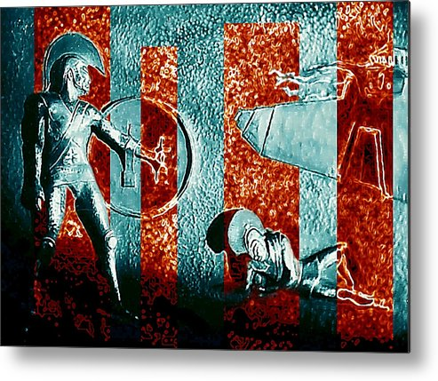 Dogs Of War Metal Print featuring the digital art Dogs Of War At Troy by Hartmut Jager