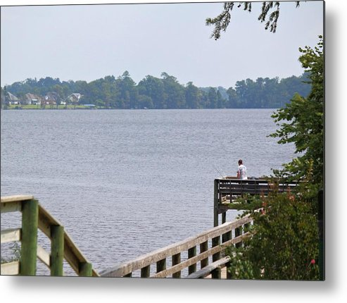 Pier Metal Print featuring the photograph Fishing From The Pier by Carolyn Ricks
