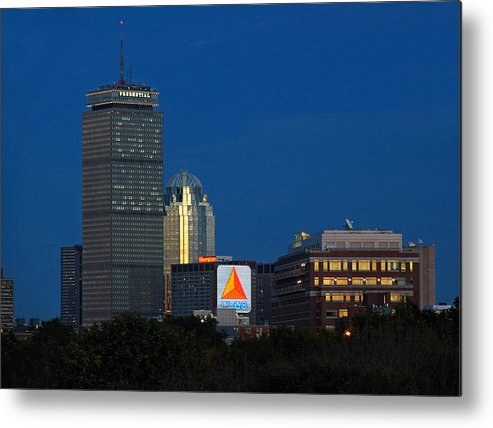 Opening Metal Print featuring the photograph Go Red Sox by Juergen Roth