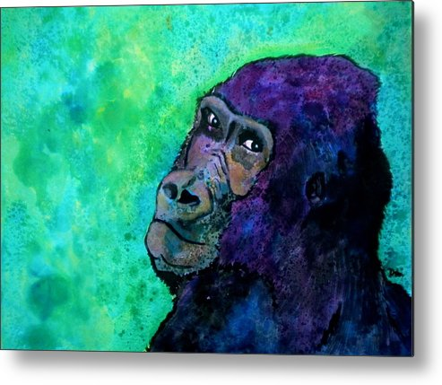 Go Sit In Time Out Metal Print featuring the painting Go Sit In Time Out by Debi Starr