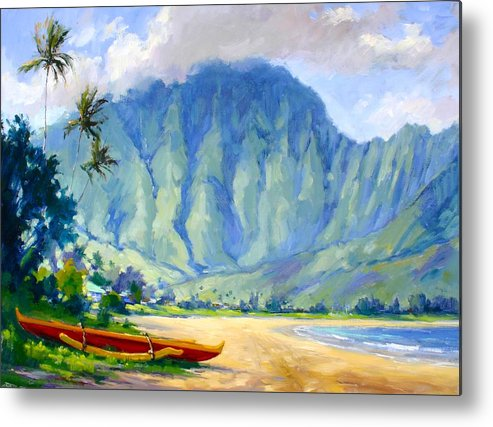 Hawaii Metal Print featuring the painting Hanalei Style by Jenifer Prince