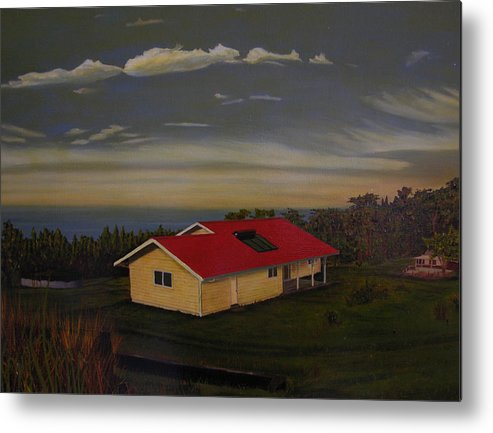 Hawaii Landscape Metal Print featuring the painting Heaven On Earth by Thu Nguyen
