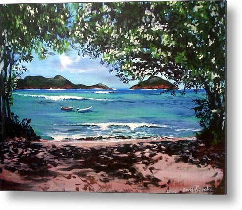 Caribbean Metal Print featuring the painting Hull Bay Afternoon by David Francke