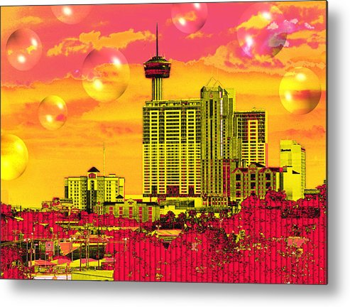 San Antonio Metal Print featuring the digital art Inner City - Day Dreams by Wendy J St Christopher