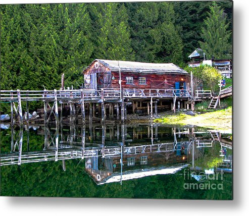 British Columbia Metal Print featuring the photograph Lagoon Cove by Robert Bales
