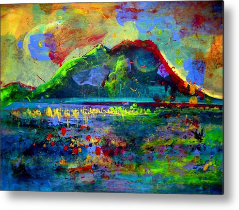 Landscape Metal Print featuring the painting Landscape 130214-5 by Aquira Kusume