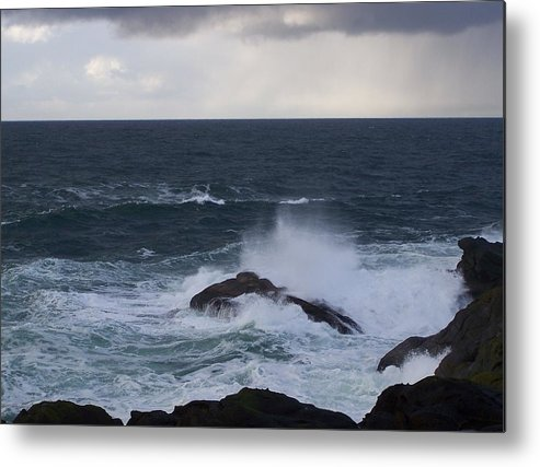 Ocean Metal Print featuring the photograph Making Waves by Heather L Wright