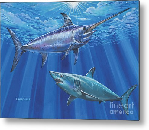Swordfish Metal Print featuring the painting Mako Sword Off0024 by Carey Chen