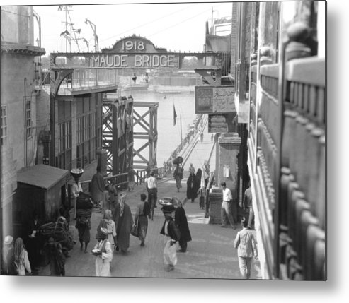 1932 Metal Print featuring the photograph Maude Bridge In Baghdad by Underwood Archives