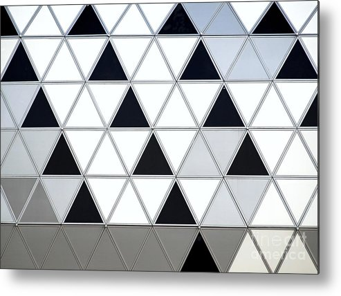 Facade Metal Print featuring the photograph Modern Building Facade Detail by Yali Shi