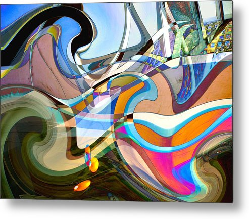 Digital Metal Print featuring the digital art Of The Beginning by Dennis Carlyle